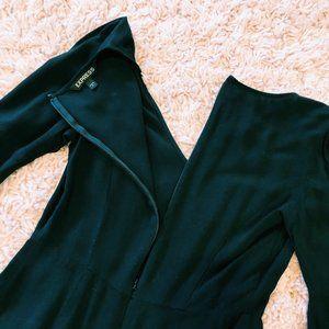 Express Dresses - Express Black V-Neck & Bell-Sleeved Dress